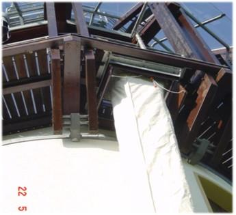 Ceiling breakthrough - trap door principle