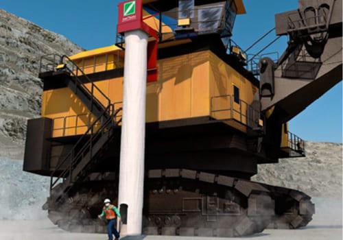 Mining Large excavator and dump truck evacuation