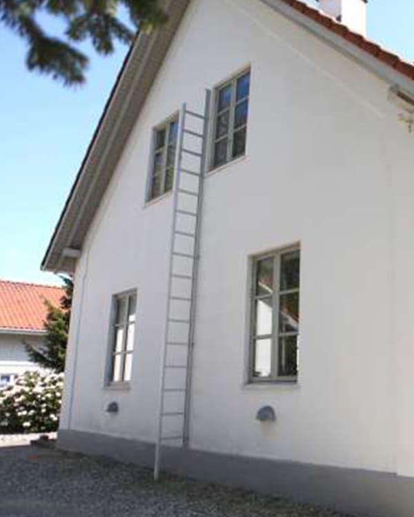Fluchtleiter am Haus zur Evakuierung